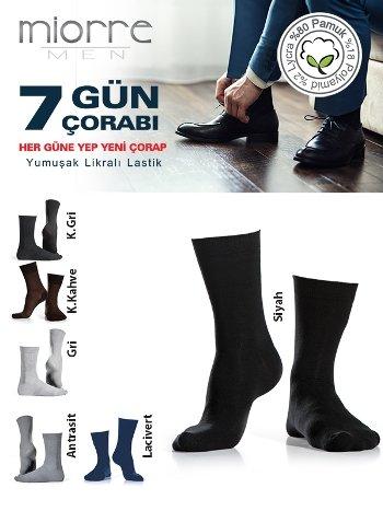 Miorre Pamuklu 7'Li Erkek Çorabı