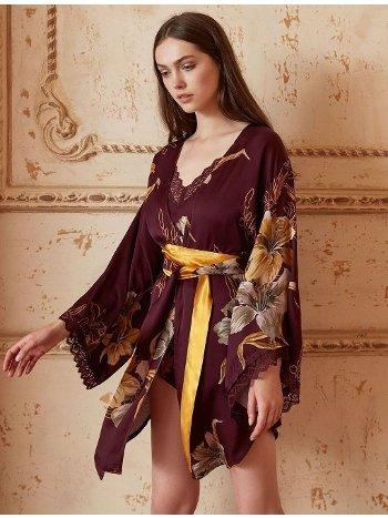 Miss Loren 1820 Sabahlıklı Pijama Şort Takım