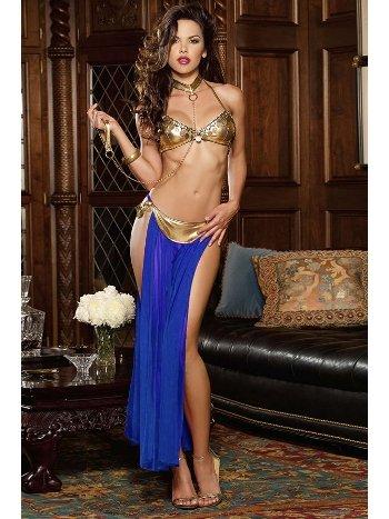 Mite Love Dansöz Kostümü Mavi