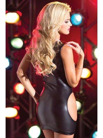 Mite Love Deri Mini Elbise Fantazi Giyim