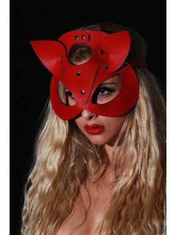 Mite Love Kırmızı Deri Fantazi Maske Vincent