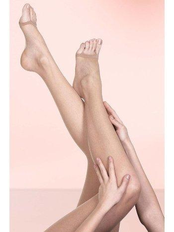 Mite Love Külotlu Çorap Şeffaf Burnu Açık Ten Rengi