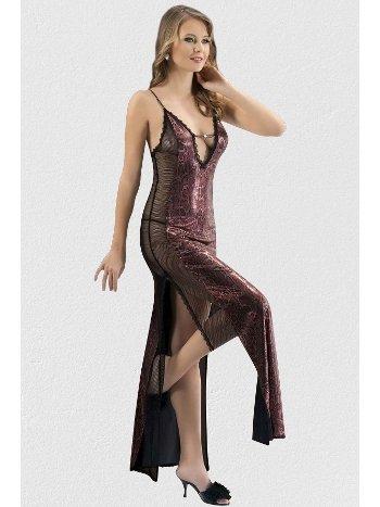 Mite Love Mikro Uzun Gecelik Bordo Kadın Giyim ML-1751