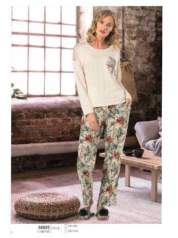 NBB 66605 Uzun Kol Bayan Pijama Takım