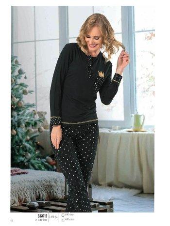 NBB 66611 Patlı Bayan Pijama Takım