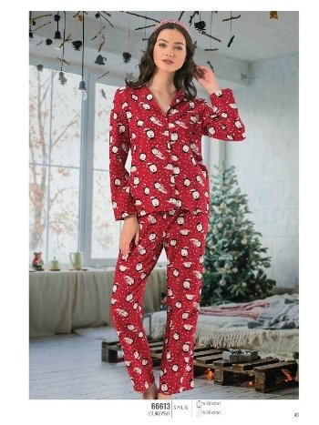 NBB 66613 Penguen Desenli Pijama Takım