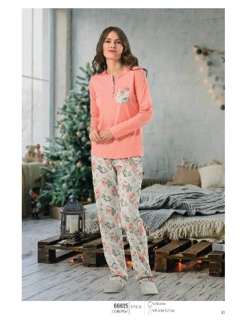 NBB 66615 Uzun Kol Bayan Pijama Takım