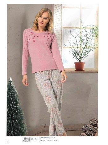 NBB 66619 Uzun Kol Bayan Pijama Takım