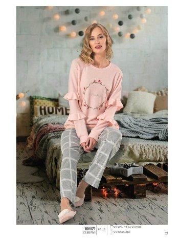 NBB 66621 Kolları Volanlı Bayan Pijama Takım