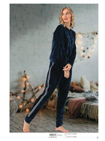 NBB 66622 Yıldızlı Kadife Pijama Takım