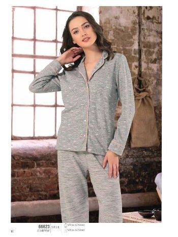NBB 66623 Önden Düğmeli Pijama Takım