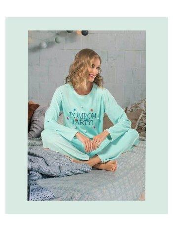 NBB 66631 Ponponlu Kadife Pijama Takım