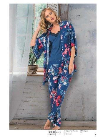 NBB 66635 3lü Dokuma Pijama Takım