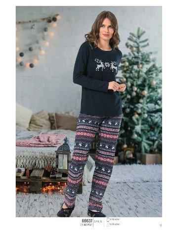 NBB 66637 Uzun Kol Bayan Pijama Takım