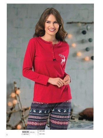 NBB 66638 Kilim Desenli Bayan Pijama Takım