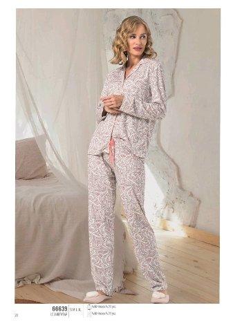 NBB 66639 Düğmeli Bayan Pijama Takım