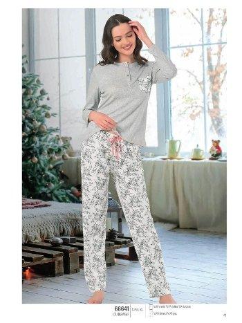 NBB 66641 Patlı Bayan Pijama Takım