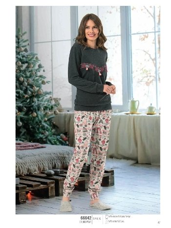 NBB 66642 Püsküllü Bayan Pijama Takım