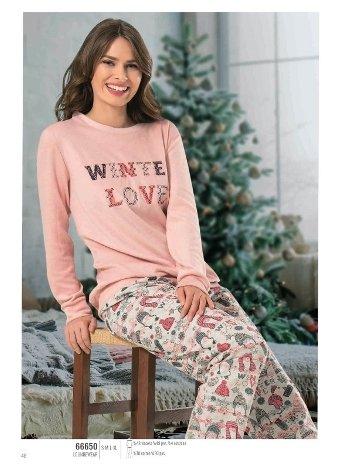 NBB 66650 Winter Love Pijama Takım