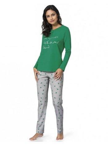 Pierre Cardin Yeşil Pijama Takımı 1016