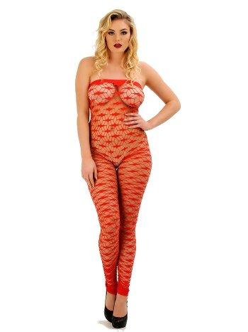 Sistina 1025 Kırmızı Straplez Vücut Çorabı