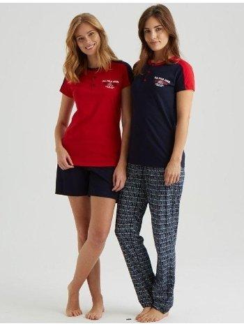 US Polo 16030 Bayan 3'lü Pijama Takım