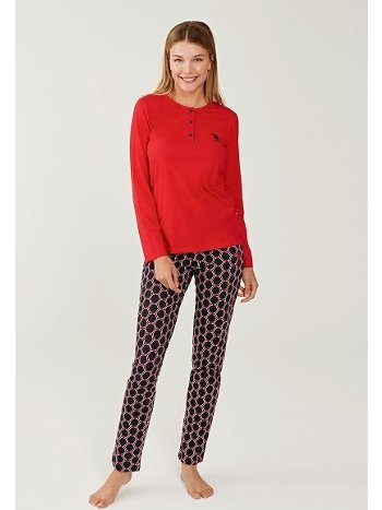US Polo 16240-2 Patlı Pijama Takımı