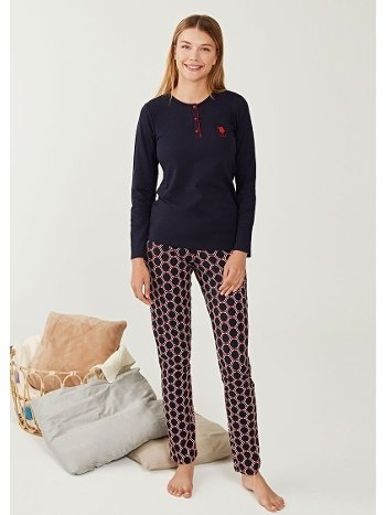 US Polo 16240 Patlı Pijama Takımı