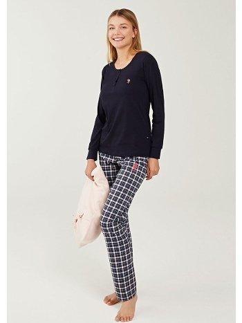 US Polo 16242 Patlı Pijama Takımı