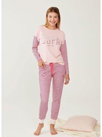 US Polo 16255-2 Yuvarlak Yaka Pijama Takımı