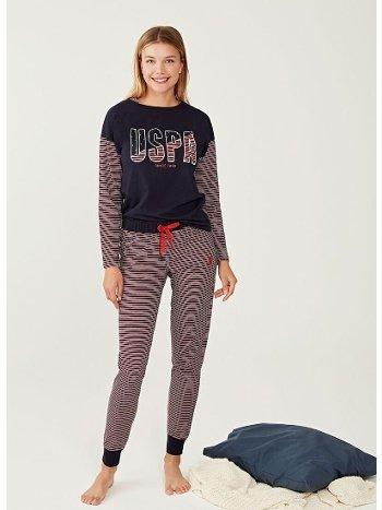 US Polo 16255 Yuvarlak Yaka Pijama Takımı