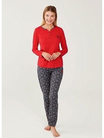 US Polo 16256 Patlı Pijama Takımı