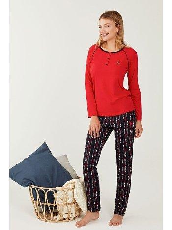 US Polo 16257 Patlı Pijama Takımı