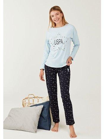 US Polo 16258-2 Yuvarlak Yaka Pijama Takımı