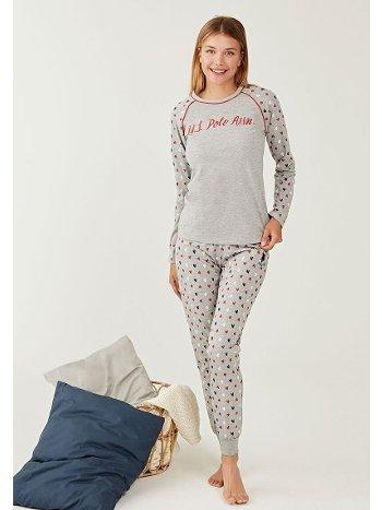 US Polo 16260-2 Yuvarlak Yaka Pijama Takımı