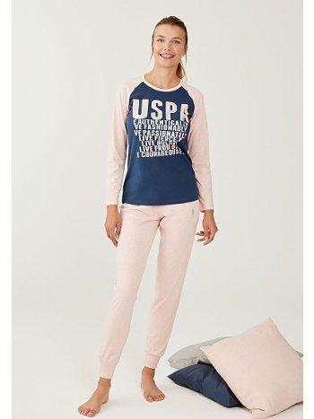 US Polo 16268 Yuvarlak Yaka Pijama Takımı