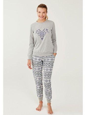 US Polo 16276-2 Yuvarlak Yaka Pijama Takımı