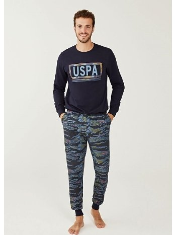 US Polo 18233 Yuvarlak Yaka Pijama Takımı