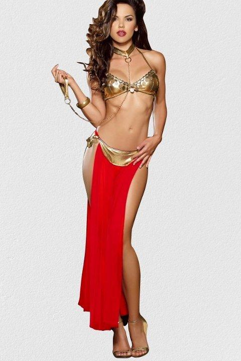 Dansöz Kostümleri Mite Love Dansöz Kostümü Kırmızı