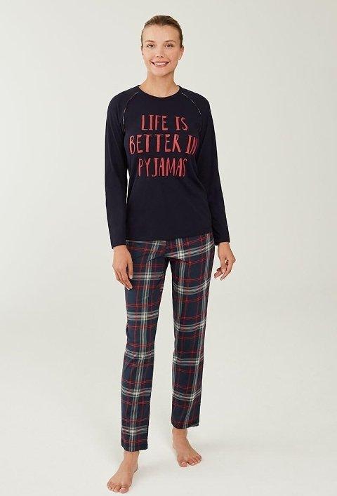 Mod Collection 3217-2 Lacivert Pijama Takımı