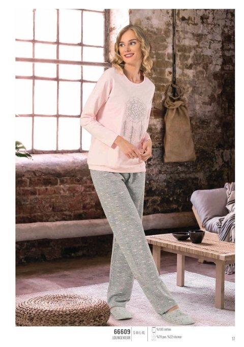 NBB 66609 Uzun Kol Bayan Pijama Takım
