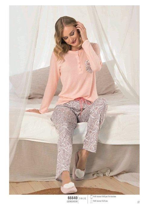 NBB 66640 Patlı Bayan Pijama Takım