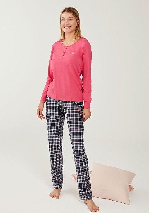 US Polo 16242-2 Patlı Pijama Takımı