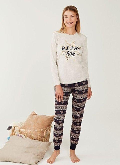 US Polo 16245 Yuvarlak Yaka Pijama Takımı