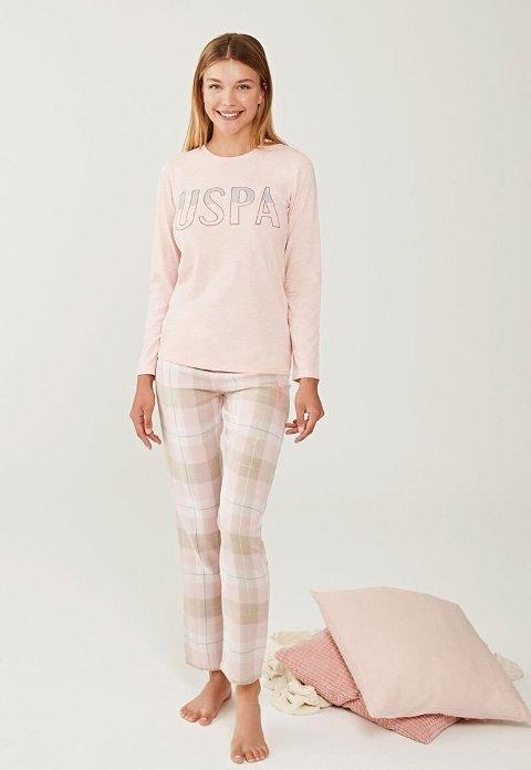 US Polo 16246-2 Yuvarlak Yaka Pijama Takımı