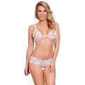 Mite Love Dantel Sütyen Külot Takım Beyaz Fantazi iç Giyim ML-9587