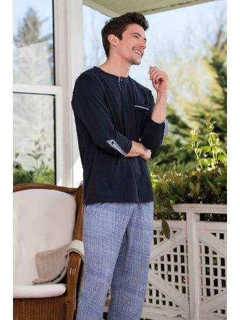 2'li Viskon Erkek Pijama Takımı Yeni İnci EPJ742