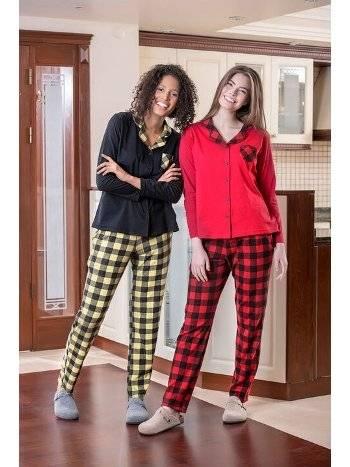 2li Viskon Kadın Pijama Takımı Yeni İnci BPJ1562