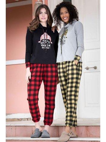 2'li Viskon Kadın Pijama Takımı Yeni İnci BPJ1564