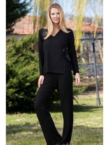 2'li Viskon Kaşkorse Kadın Pijama Takımı Yeni İnci BPJ1596